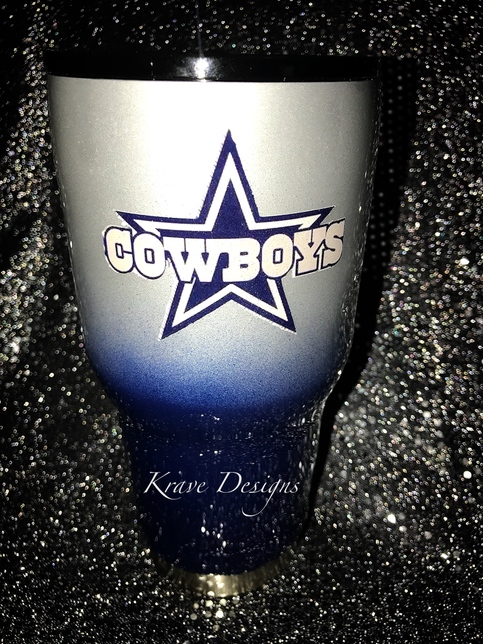 dallas cowboys stainless steel tumbler on storenvy