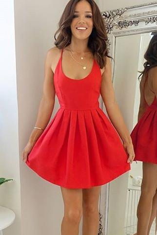 Sexy Short Red Party Dress