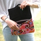 Oversized Clutch - Pink Hippie - Thumbnail 1