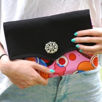 Oversized Clutch - Pink Hippie