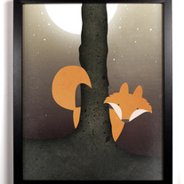 Image of Forest Fox, Original Illustration, 8 x 10