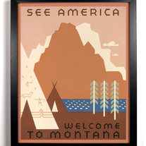 Image of Welcome To Montana, Giclee Art Print, 8 x 10