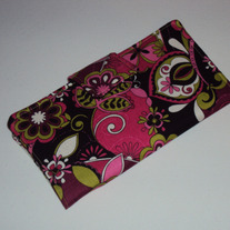 Pink & Black Flower Wallet