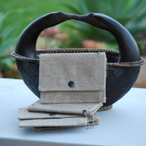 Eco Friendly 100% Natural Linen - Wallet