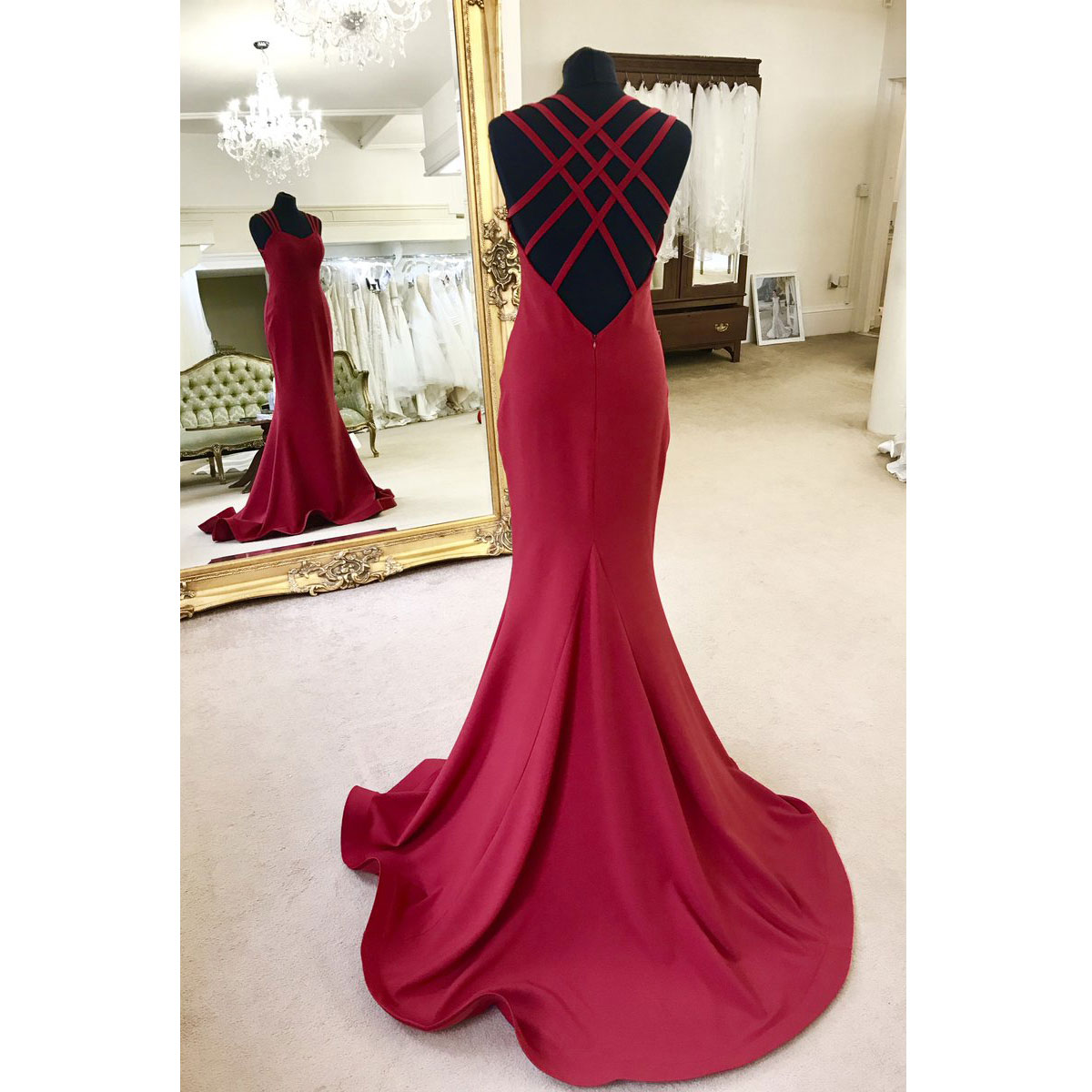 Hot Sell Criss Cross Long Mermaid Prom Dresses Evening Dresses ...