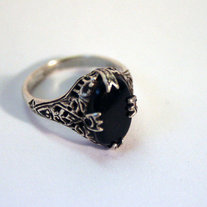 Onyx Edwardian/Art Deco Ring