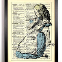 Image of Alice Is Lost, Vintage Dictionary Print, 8 x 10