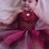 Burgundy and Pinks Tutu Dress with Sparkles in 3 mos to 12 mos