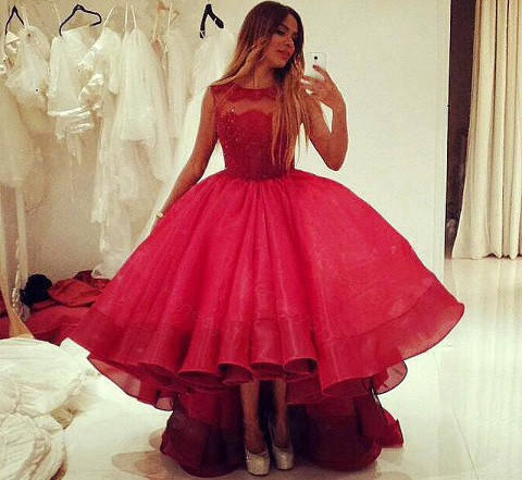 Red High Low Wedding Dresses