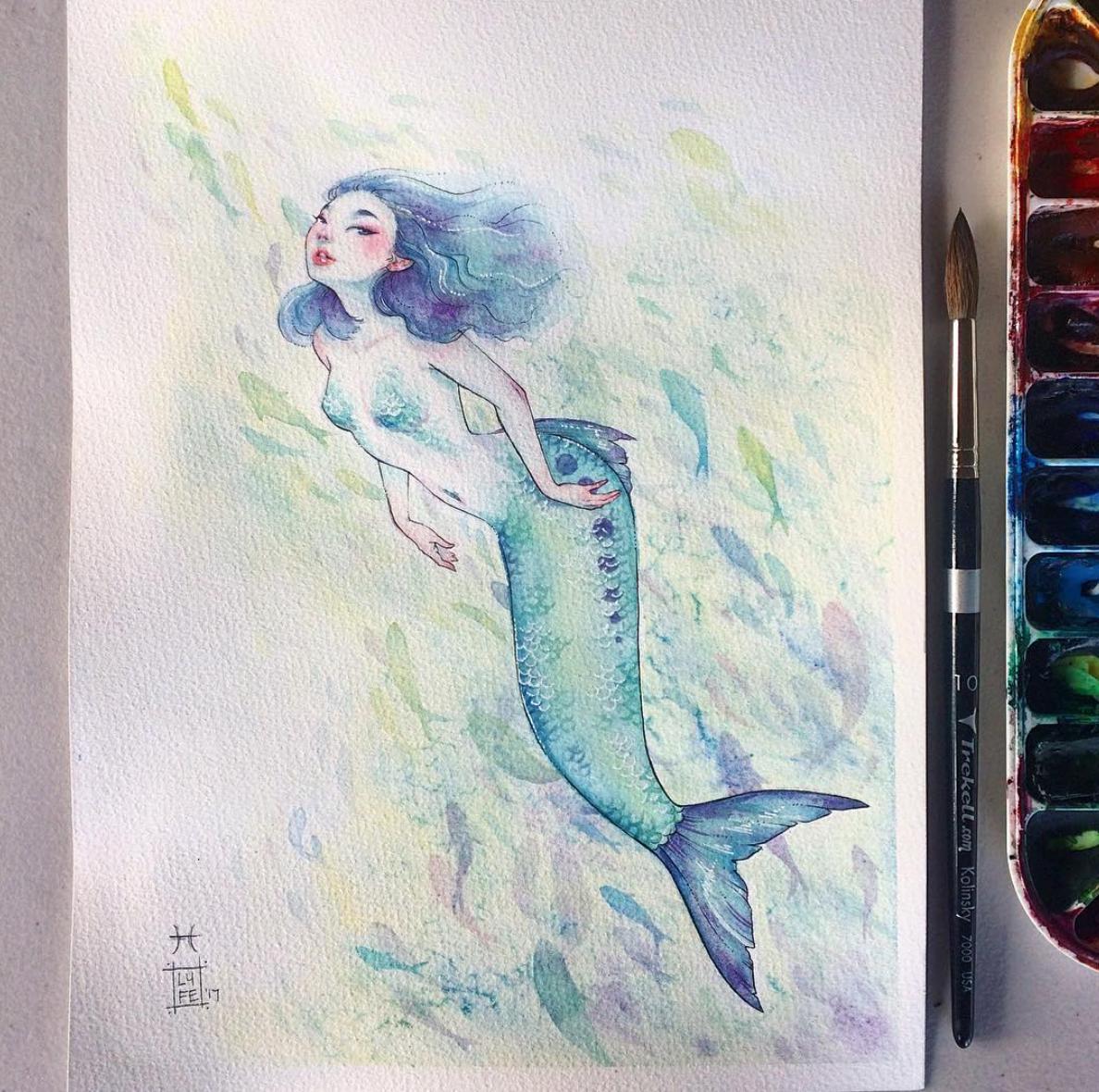 Pisces Mermaid Original Lyfe Illustration Online Store Powered