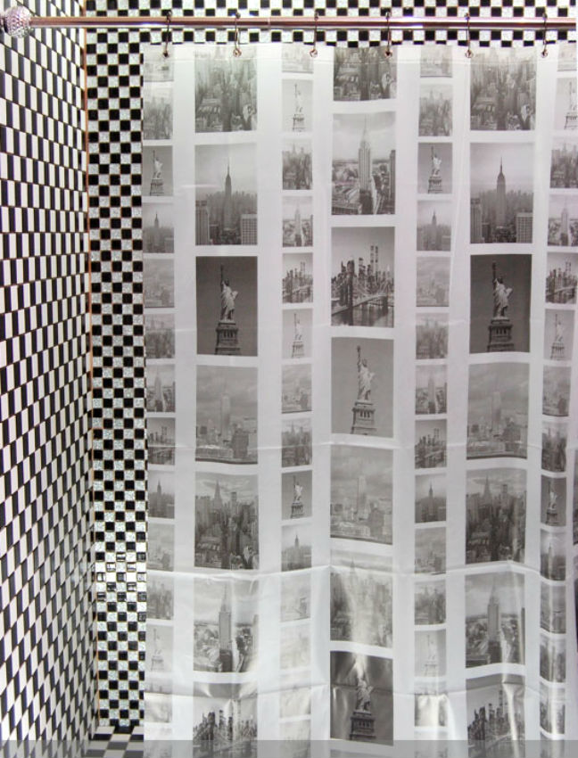 NEW YORK Scenery Vintage Design 180x180cm PEVA Shower Curtain Cool ...