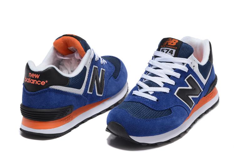 new balance 574 orange navy