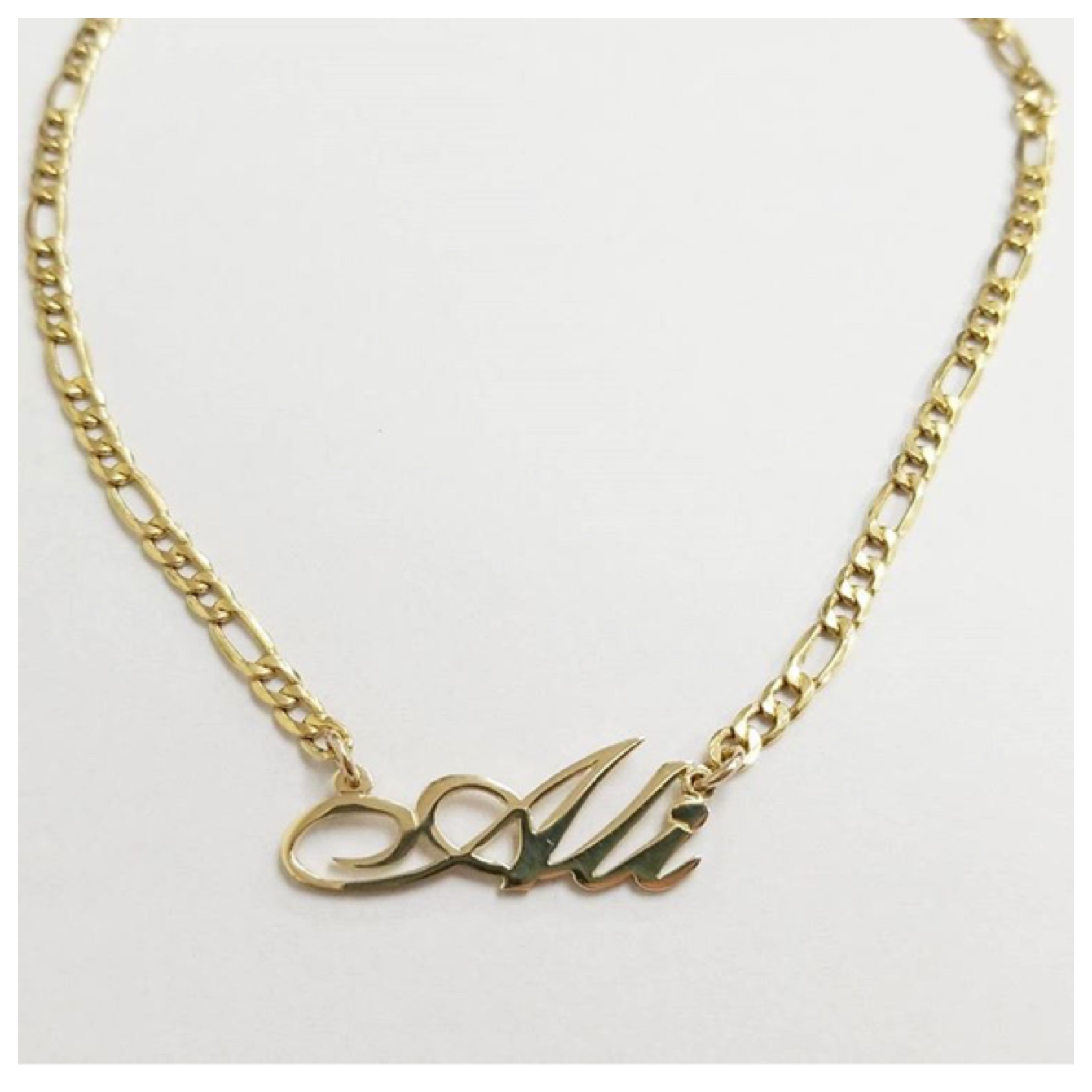 letters carat necklace eight gold necklaces white or in rose name jewellery