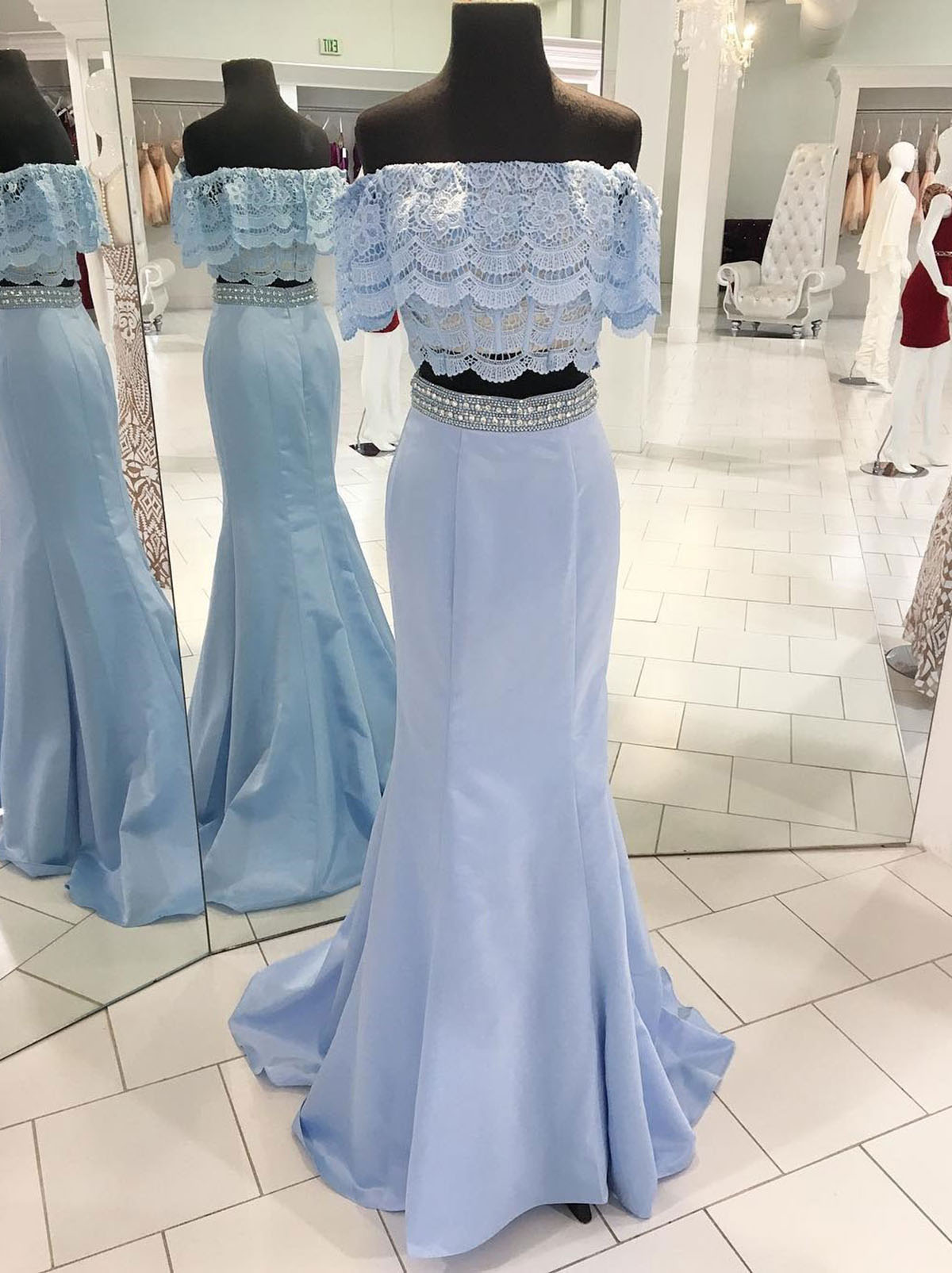Cheap Prom Dresses by SweetheartDress · Spring fresh blue satin ...