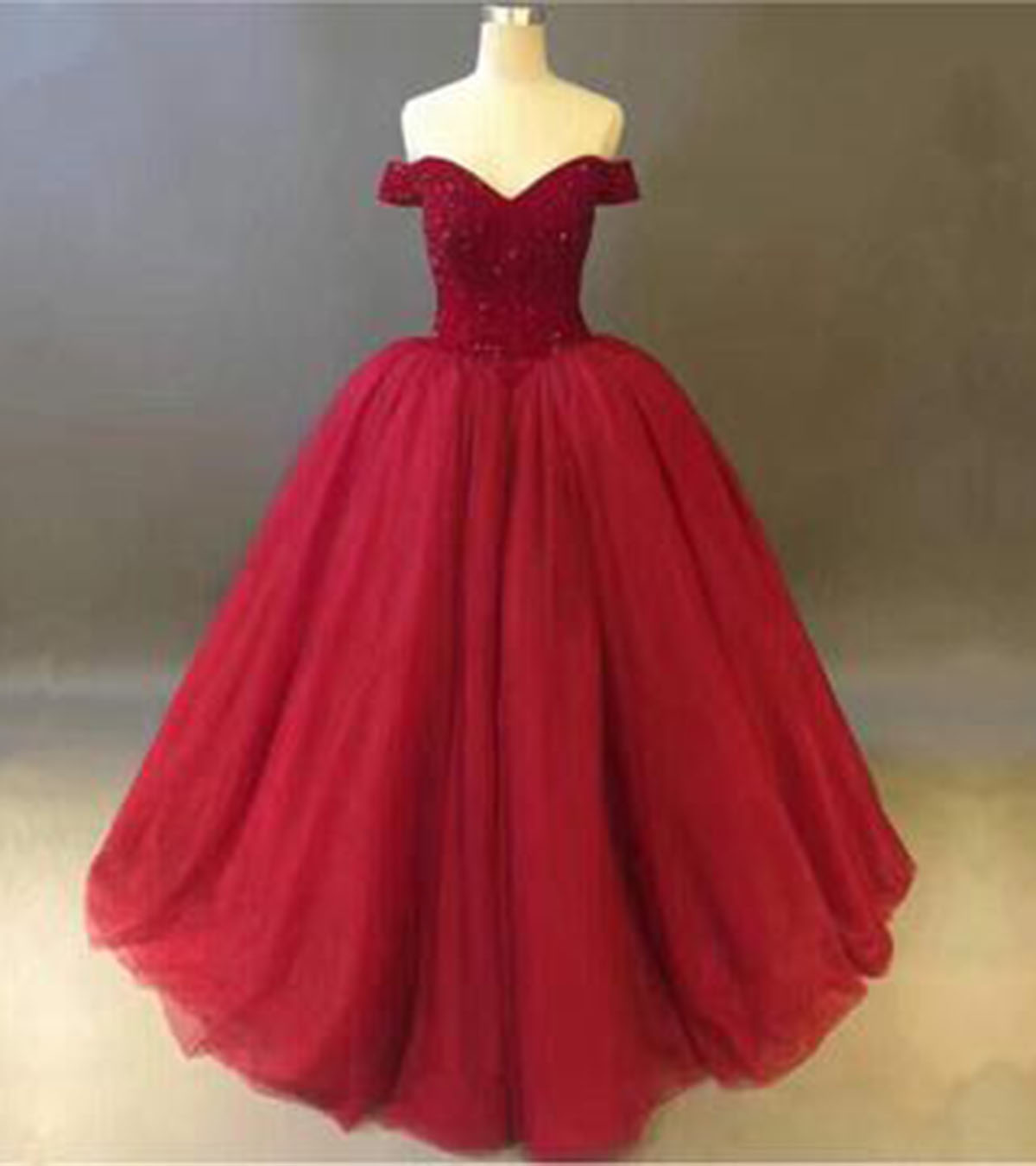 Cheap Prom Dresses by SweetheartDress · Red tulle strapless floor ...