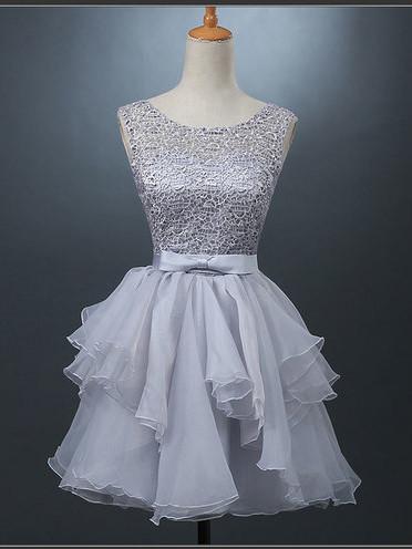 Pretty Short Light Gray Prom Dress, FSS11 · romanticdress · Online ...