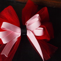 Layered Bow with Tulle