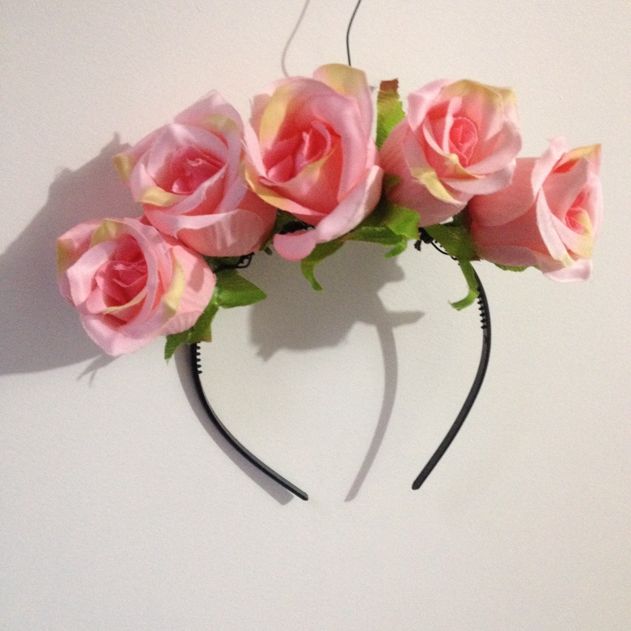 Pink Rose Flower Crown Rixie Online Store Powered By Storenvy