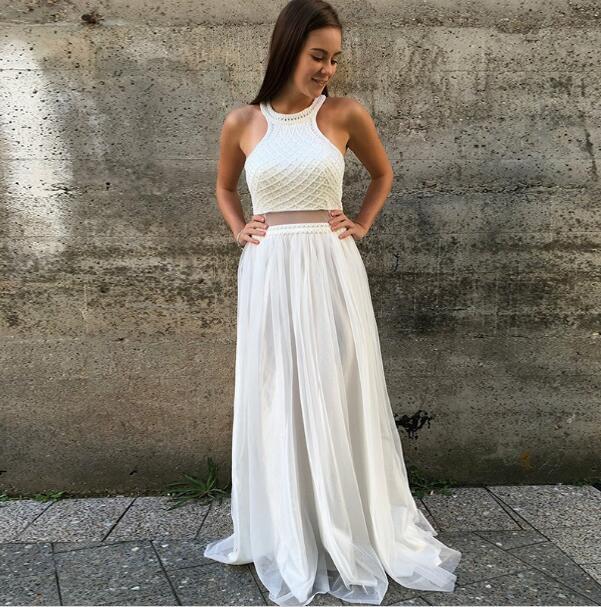 Sexy White Prom Dress