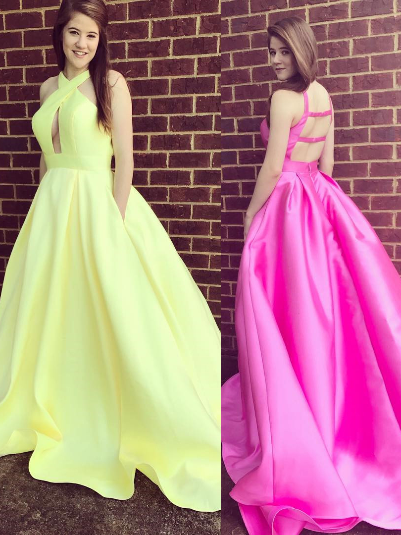 Gorgeous A-line Formal Dress Yellow Party Dress 2018 Long Prom Dress ...