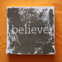 Subway Art Wall Hanging Canvas - Believe, Inspirational Art