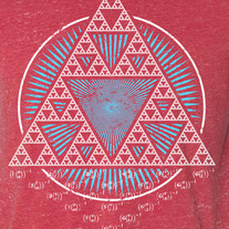 Sierpinski Triangle Red Acid Wash medium photo