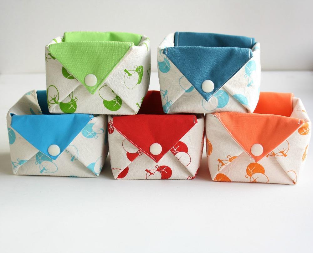 Fabric organizer basket origami bin organizer - Origami desk organizer ...