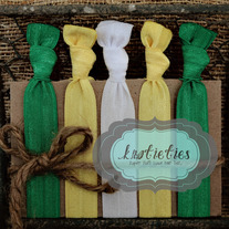 go team green&yellow : original {knotieties} 10 pack