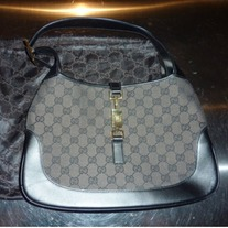 Gucci Black Brown Jackie Hobo Bag Medium EXCELLENT CONDITION