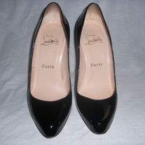 Christian Louboutin Maudissima 100mm Black Pumps SZ 6