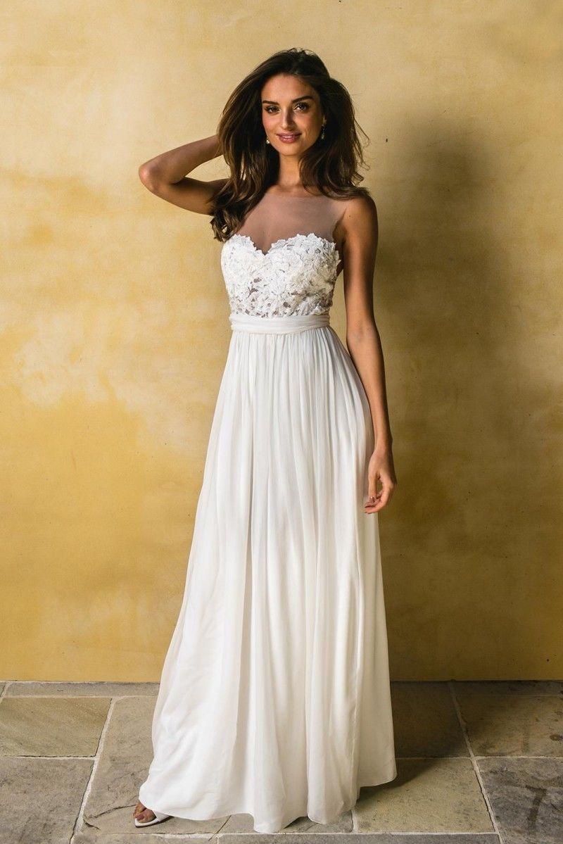 2018 Beach Wedding Dress Ivory Wedding Dresses Bridal Dress ...