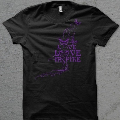 Unisex black live love inspire t-shirt
