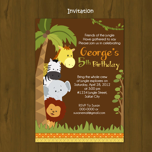 Safari Birthday Invitation Splashbox Printables Online Store