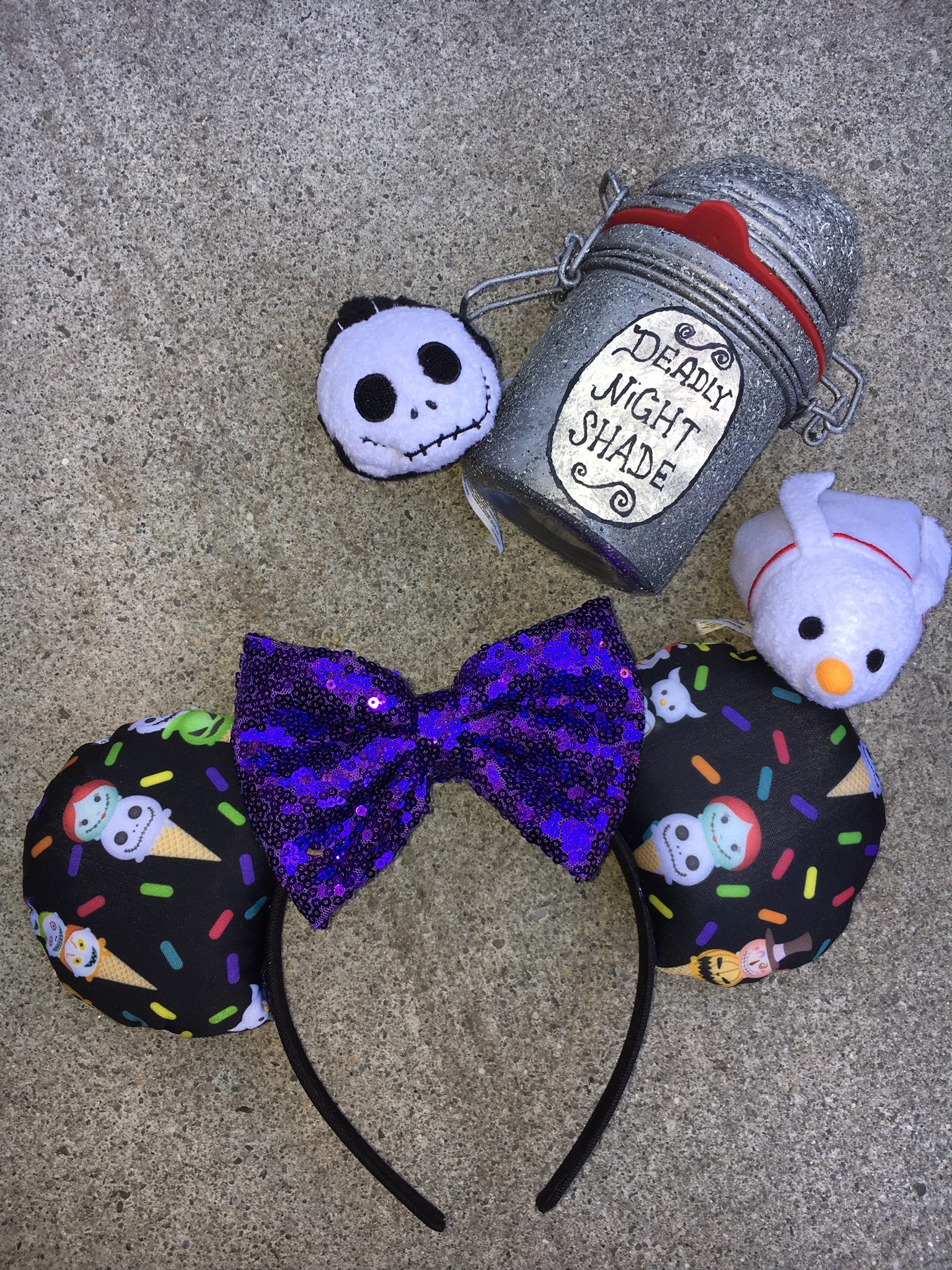 Nightmare Before Christmas Tsum Tsum ice cream Mouse Ears ...