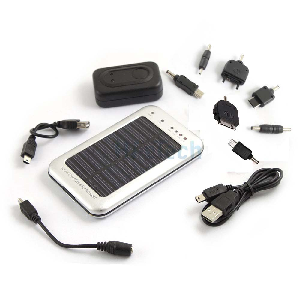 Solar Charger Usb Power Panel Battery Flashlight For Mp3