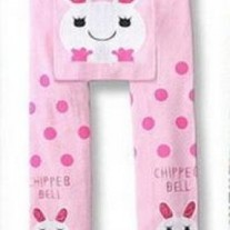 CHIPPER BUNNY European Style Legging Pants in Pinks for baby to toddler girls