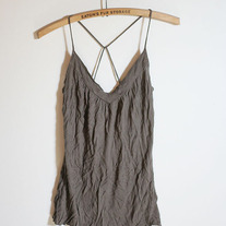 Brown Cross String Tank