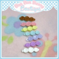 Tiny Treat Hair Clip - Flower Trio F