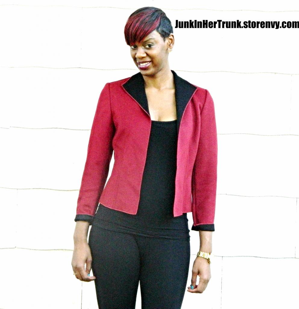 Red And Black Wool Blazer 183 Junk In Her Trunk 183 Online Store Powered By Storenvy