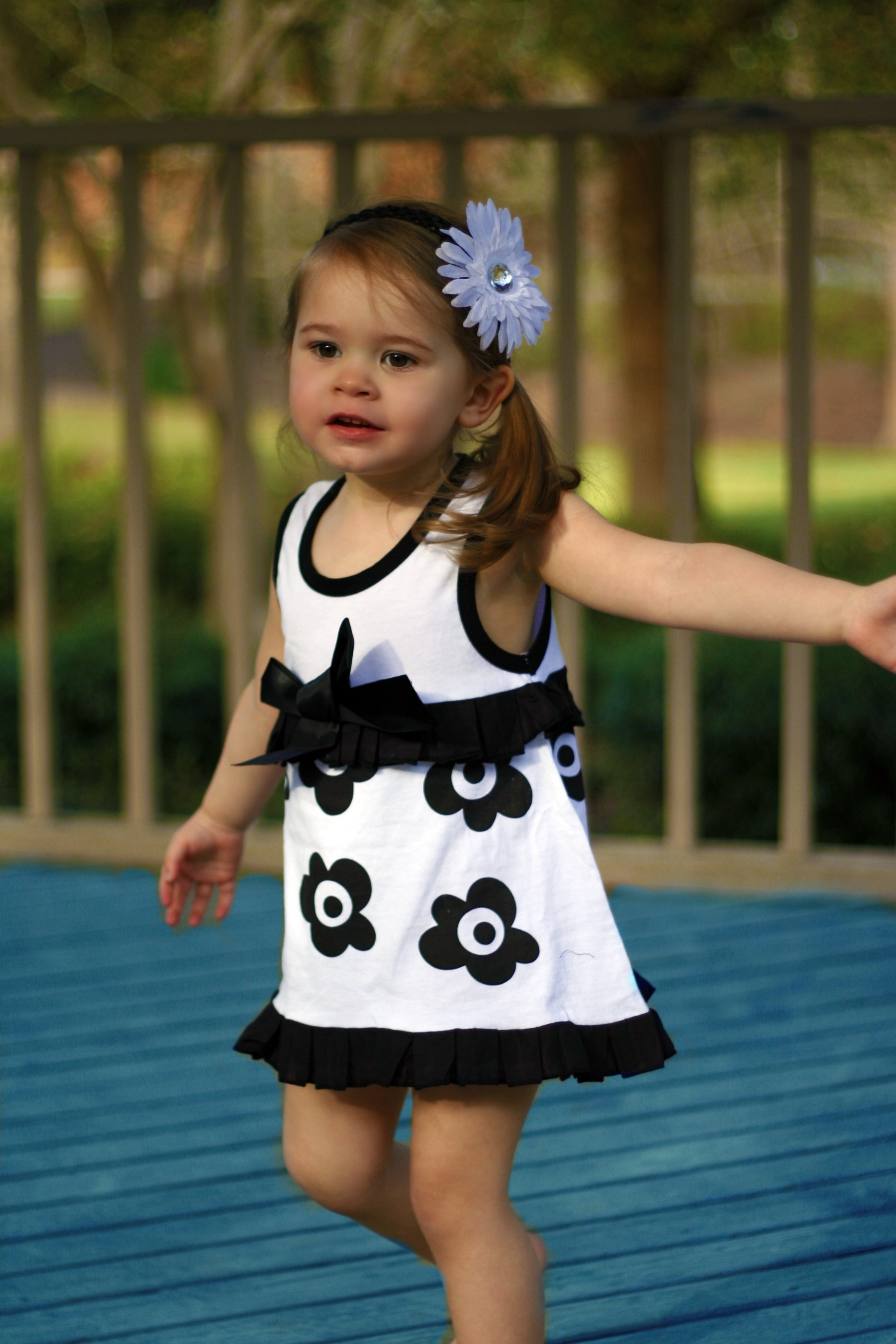 Handmade_handpicked_boutique_doomagic_dress_in_black_and_white_flower_design_one_piece_romper_magic_cube_all_rights_reserved_on_this_photo_original