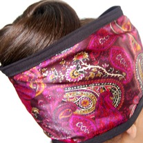 Diva Hair Wrap- Plum Paisley