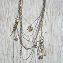 Multichain Necklace with Charms
