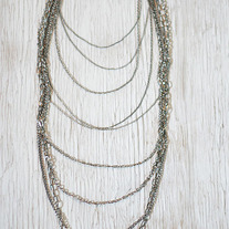 Long Multichain Necklace