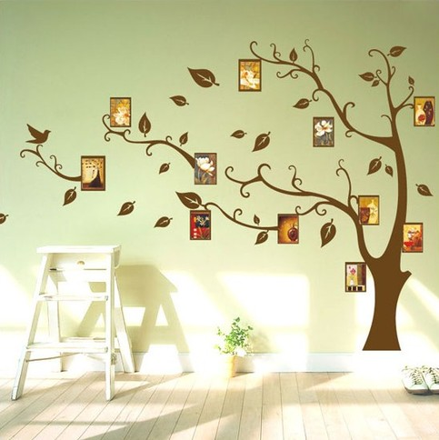 Removable Vinyl Family Photo Tree Wall Decal Wall Art Wall