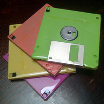 Vintage Retro Floppy Disc Coaster Set