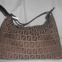 FENDI MONAGRAM NYLON SMALL HANDBAG...