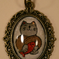 Yashimoko Good Luck Cat Necklace