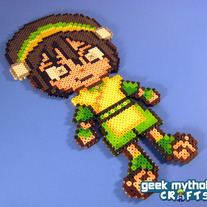 Toph from Avatar the Last Airbender - Custom Chibishou Perler Bead Sprite Pixel Art Decoration