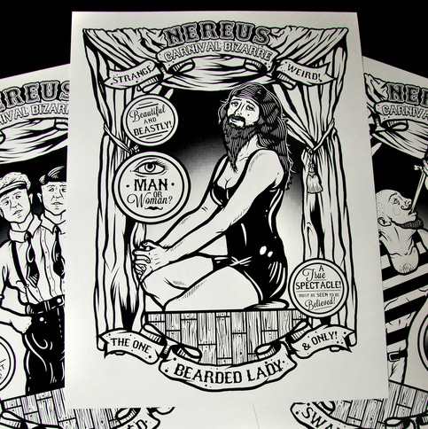 """Carnival Bizarre"" Screen Printed Poster Collection"