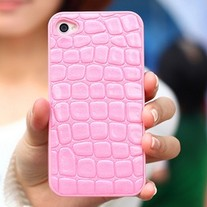 Luxury Designer Crocodile Skin Pattern iPhone 4/4S Case Cover (#746)